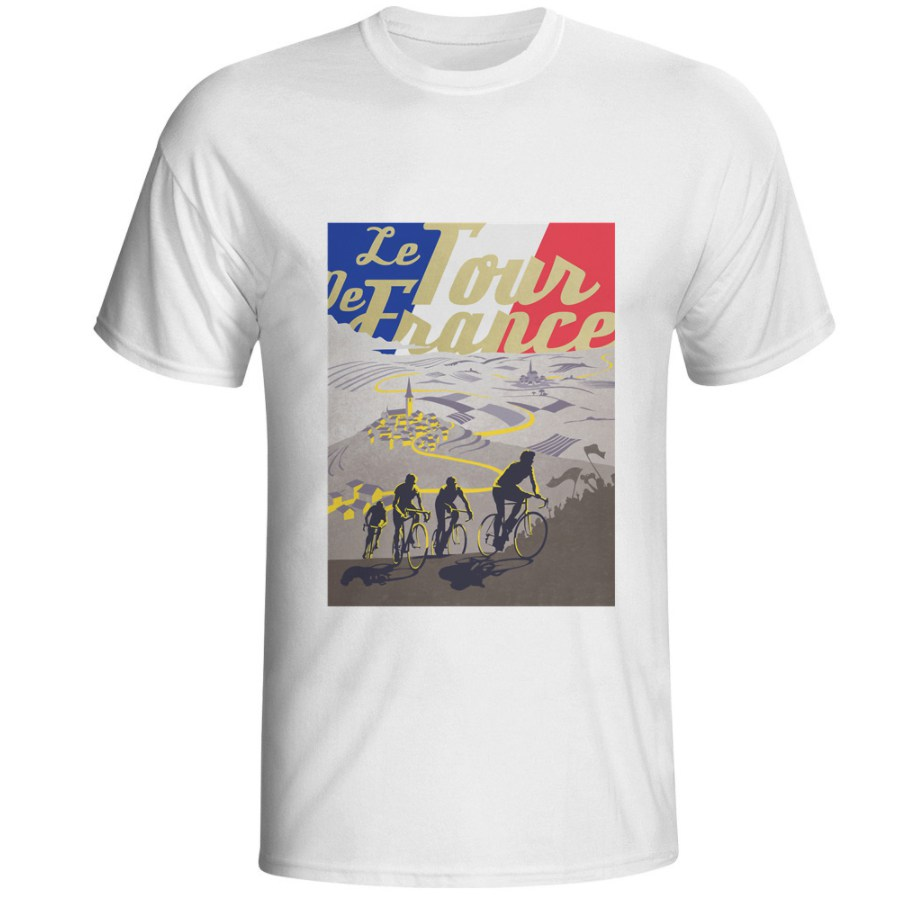 tshirt tour de france cycling vintage