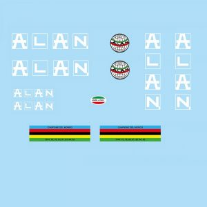 alan restoration bicycle decals vintage stickers retro