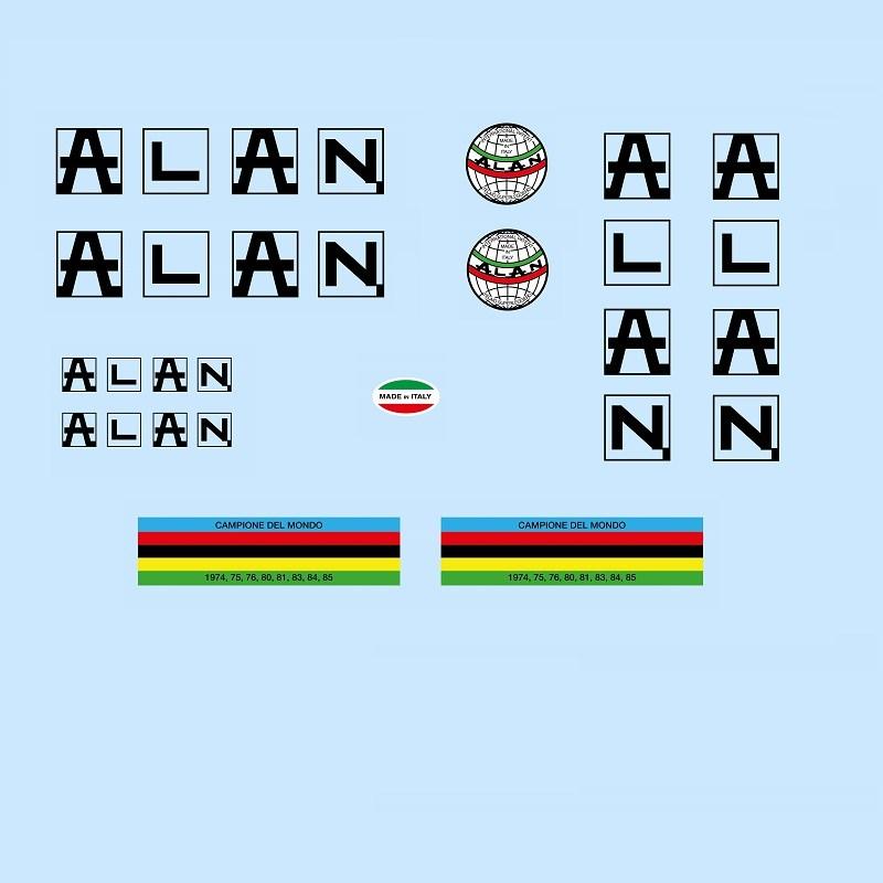 alan restoration bicycle decals vintage stickers retro