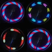 bike wheel light led hologram design multicolor