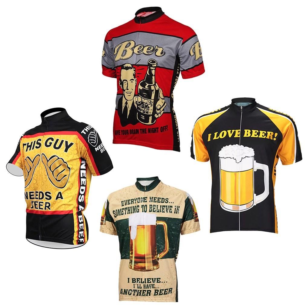jersey original cycling beer lover bike tshirt