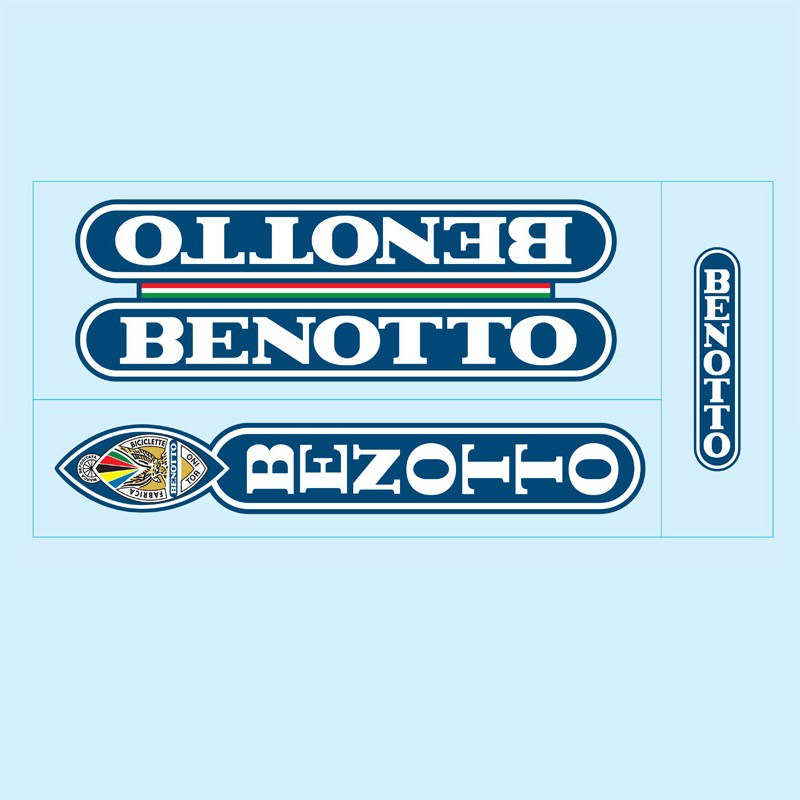 benotto restoration bicycle decals vintage stickers retro