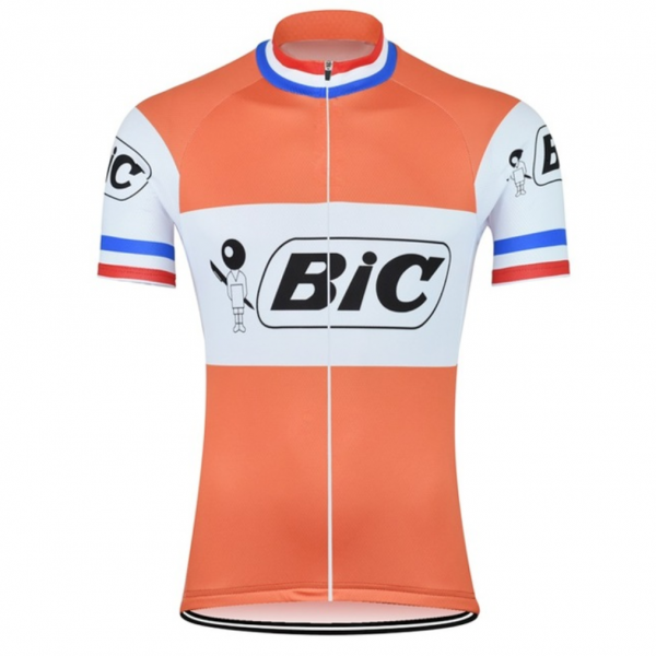retro jersey cycling anquetil bic eroica