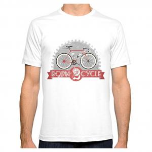 t-shirt born 2 cycle retro bike