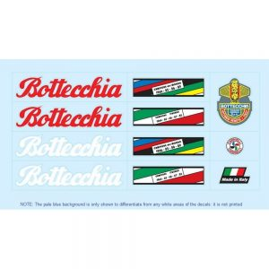bottecchia restoration bicycle decals vintage stickers retro