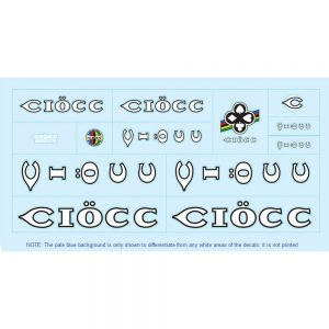 ciocc restoration bicycle decals vintage stickers retro