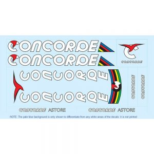 concorde restoration bicycle decals vintage stickers retro