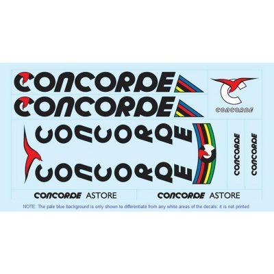 concorde restoration bicycle decals vintage stickers retro