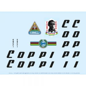 fausto coppi restoration bicycle decals vintage stickers retro