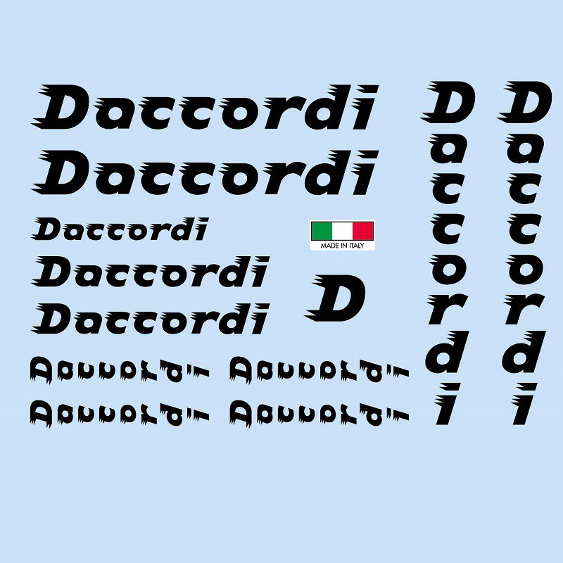daccordi restoration bicycle decals vintage stickers retro