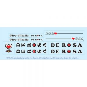 de rosa derosa restoration bicycle decals vintage stickers retro