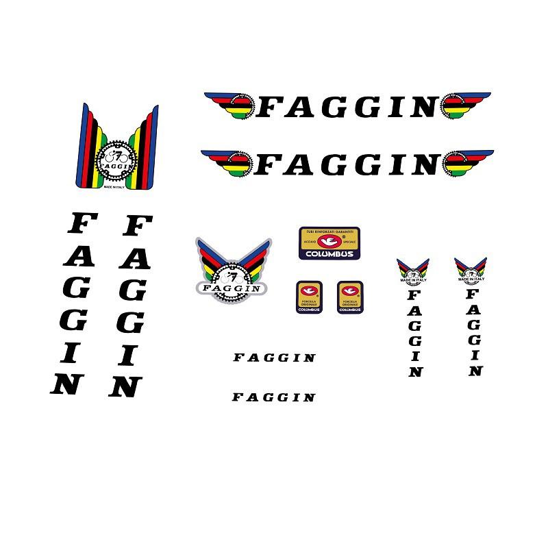 faggin restoration bicycle decals vintage stickers retro