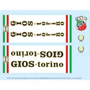 gios torino restoration bicycle decals vintage stickers retro transfers