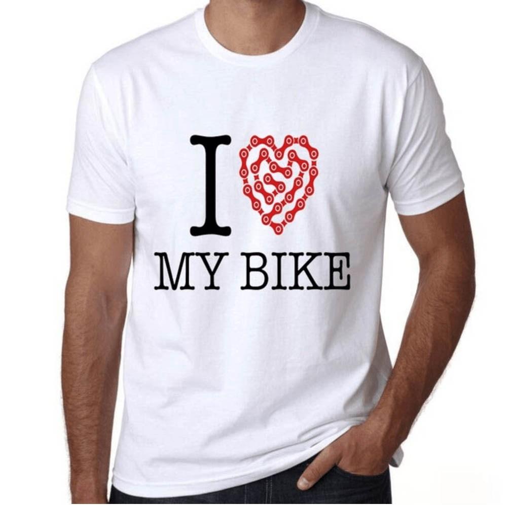 tshirt i love my bike cycling t-shirt