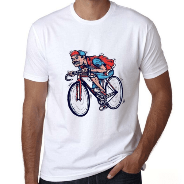 tshirt fixed gear cycling vintage