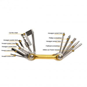 multitools kit bicycle repair 11in1 folding
