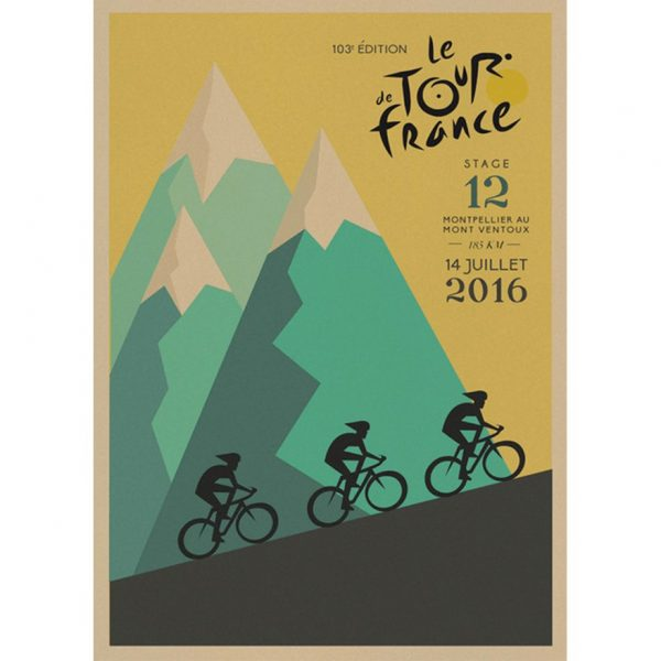 paper kraft poster retro tour de france cycling