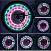 bike wheel light led multicolor hologram design