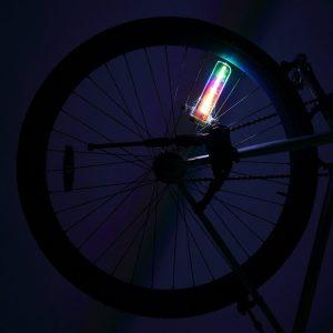 bike wheel light led multicolor hologram design