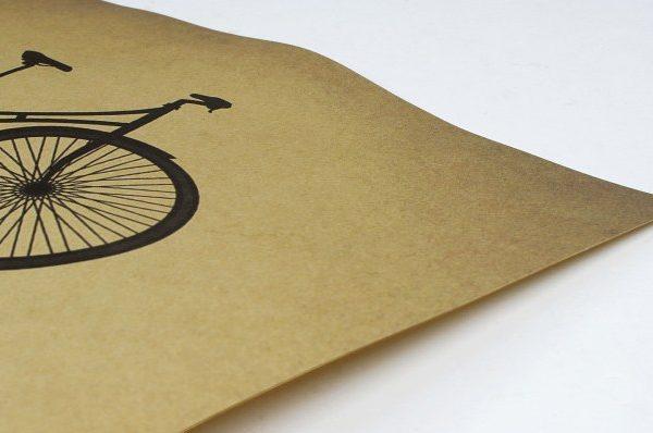 paper kraft poster bike cycling life is like balance retro