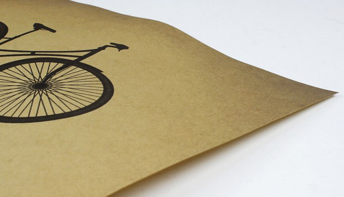 paper kraft poster bike cycling life is like balance retro