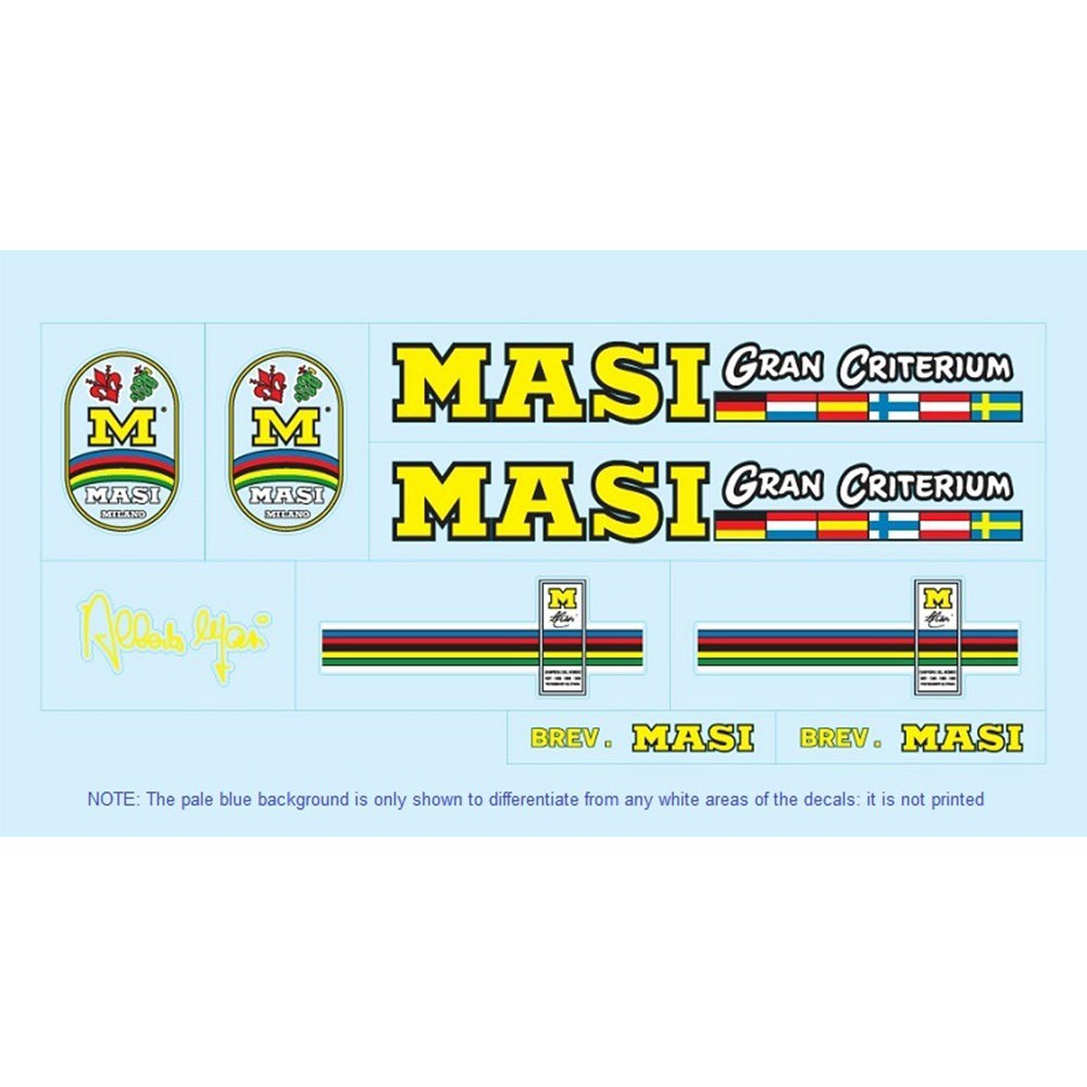 masi restoration bicycle decals vintage stickers retro transfers