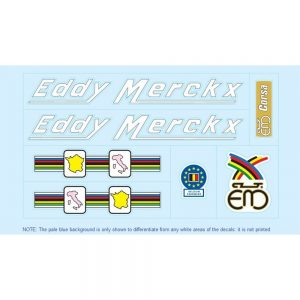 eddy merckx restoration bicycle decals vintage stickers retro