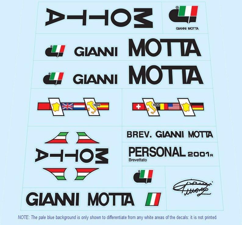 gianni motta restoration bicycle decals vintage stickers retro