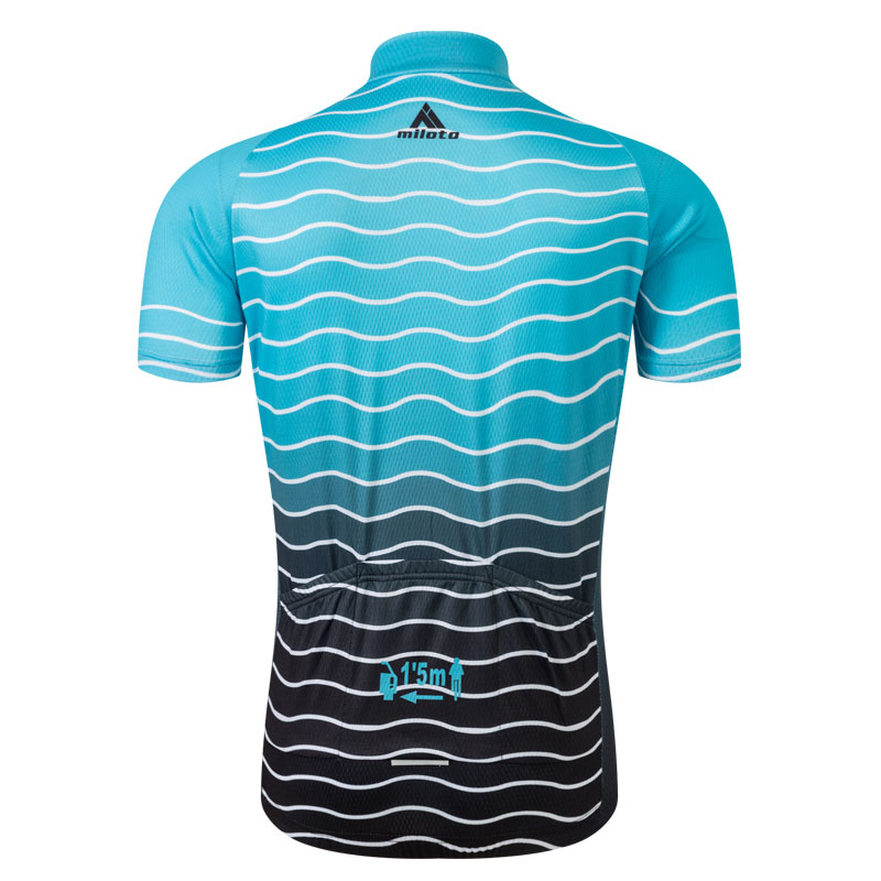 ocean blue original cycling jersey