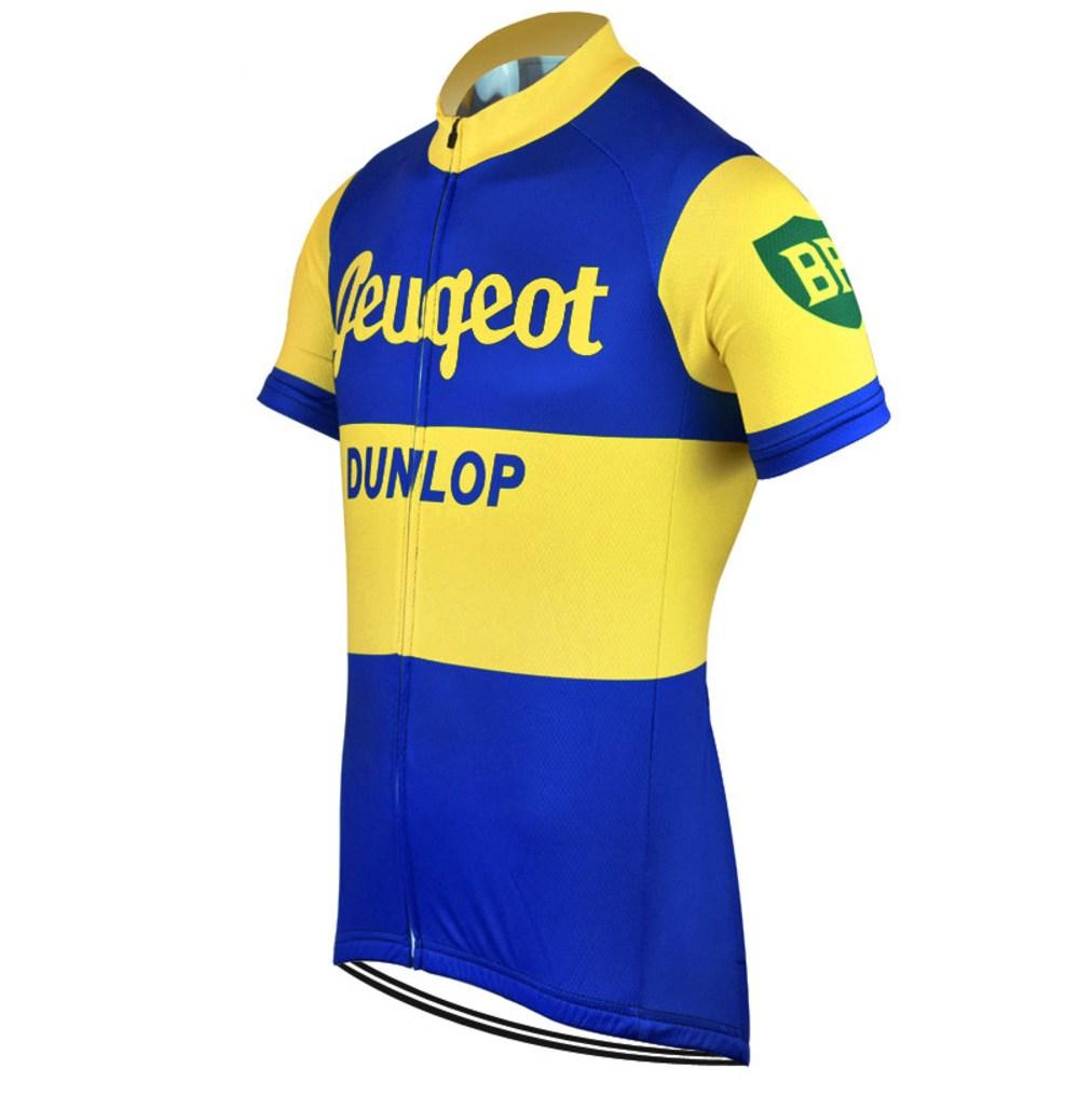 """PEUGEOT Dunlop"""" RETRO JERSEY – Vintage of Bikes world shop b9c66879c"""