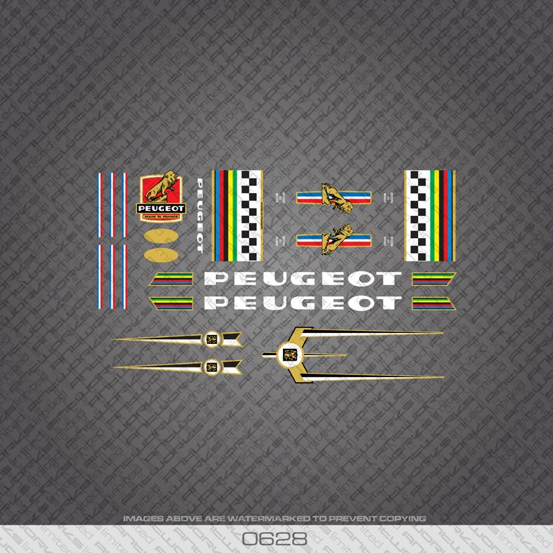 0364 Peugeot Bicycle Frame Stickers Decals Transfers