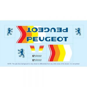 peugeot restoration bicycle decals vintage stickers retro