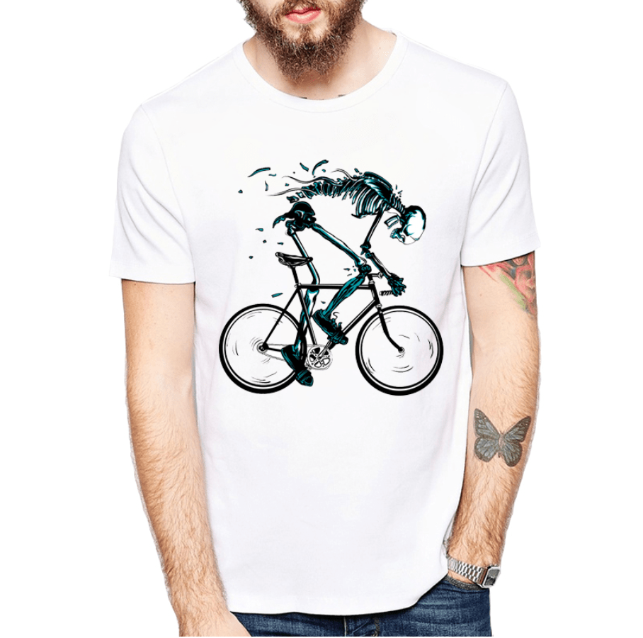 tshirt fixed gear skeleton skull