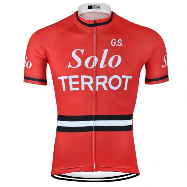 vintage retro cycling jersey solo terrot