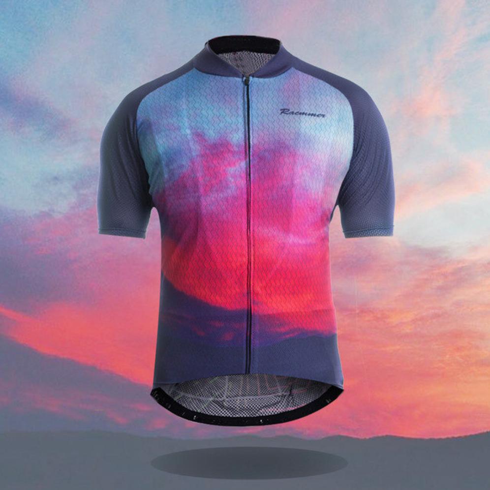 sunset colorful original cycling jersey bike
