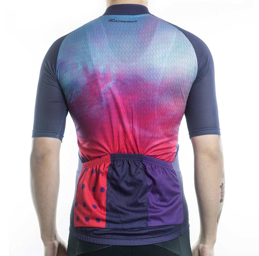 sunset colorful original cycling jersey bike