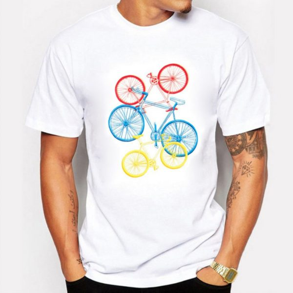 tshirt fixed gear cycling vintage
